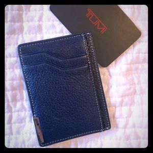 Tumi- Slimline Card wallet with Money clip